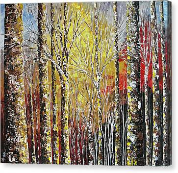 Pallet Knife Canvas Print - Touch Of Gold by Shilpi Singh