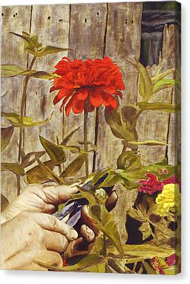 Touch Of The Master's Hand Canvas Print by Rick Fitzsimons