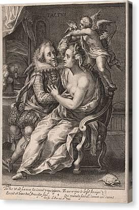 Touch, Willem Van De Passe, Crispijn Van De Passe Canvas Print by Willem Van De Passe And Crispijn Van De Passe (i)