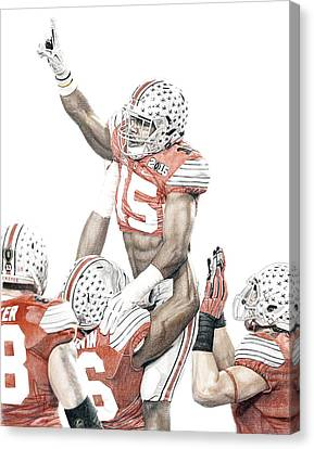 Football Canvas Print - Touchdown by Bobby Shaw