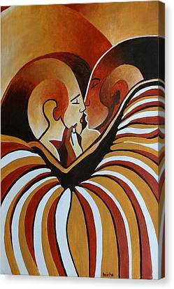 Canvas Print featuring the painting Touched By Africa I by Tracey Harrington-Simpson