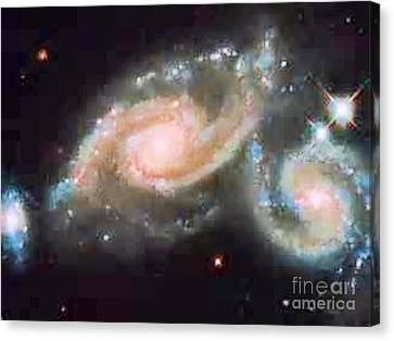 Touching Galaxies Canvas Print