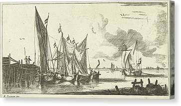 Tour Bangers Or Toll Damse Fishing Boats Canvas Print