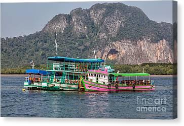 Tour Boats Canvas Print