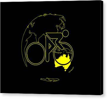 Canvas Print featuring the digital art Tour De France 2011 Tribute by Brian Carson