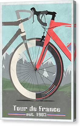 Tour De France Bicycle Canvas Print by Andy Scullion