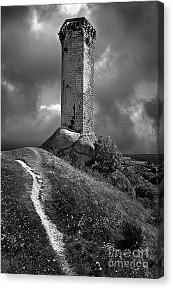 Tour De La Clauze Tower. Saugues. Haute-loire Department. Auvergne. France Canvas Print by Bernard Jaubert