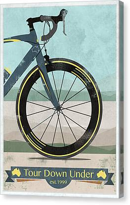 Messenger Canvas Print - Tour Down Under Bike Race by Andy Scullion
