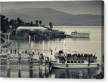 Tourboat At Sea Of Galilee, Tiberias Canvas Print