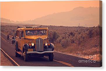Touring Yellowstone Canvas Print by Edward Fielding