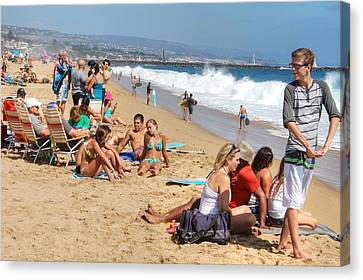 Tourist At Beach Canvas Print