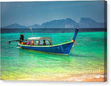 Tourist Longboat Canvas Print by Adrian Evans