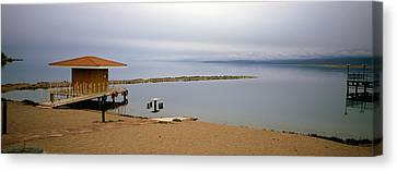 Kyrgyzstan Canvas Print - Tourist Resort On The Beach, Lake by Panoramic Images