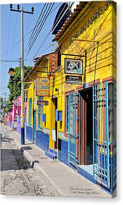 Tourist Shops - Mexico Canvas Print by David Perry Lawrence