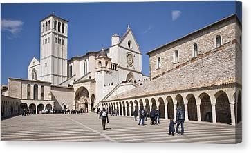 Tourists At A Church, Basilica Of San Canvas Print