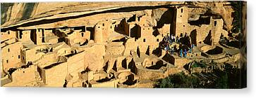 Tourists At Cliff Palace, Mesa Verde Canvas Print by Panoramic Images