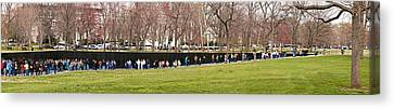 Tourists At Vietnam Veterans Memorial Canvas Print by Panoramic Images