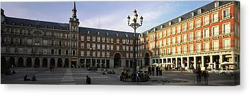 Tourists In The Courtyard Canvas Print by Panoramic Images