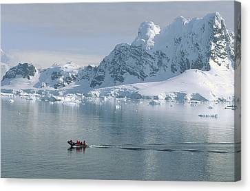 Inflatable Canvas Print - Tourists In Zodiac Boat Paradise Bay by Konrad Wothe