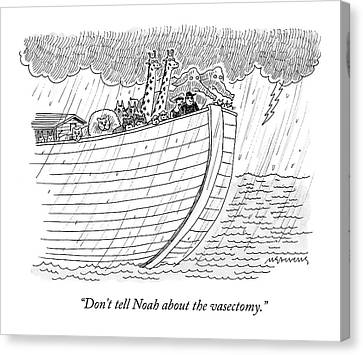 Ark Canvas Print - Tourists On Noah's Ark by Mick Stevens