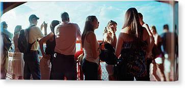 Staten Island Ferry Canvas Print - Tourists On Staten Island Ferry, Staten by Panoramic Images
