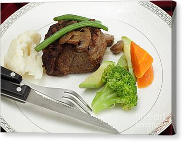 Tournedos Meal With Cutlery Canvas Print