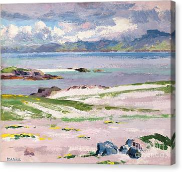 Towards Mull From Choc Ard Anraidh Canvas Print by Francis Campbell Boileau Cadell