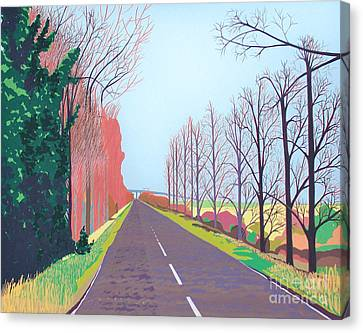 Towards The Sheppey Crossing Fom Iwade Canvas Print by Janet Darley