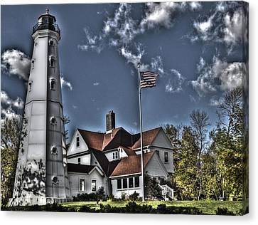 Canvas Print featuring the photograph Tower At North Point by Deborah Klubertanz