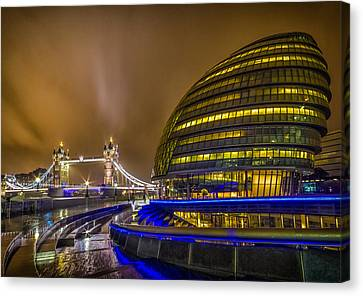 Tower Bridge And The Armadillo Canvas Print by Ian Hufton
