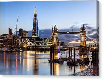 Tower Bridge At Night Canvas Print