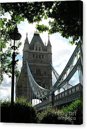 Tower Bridge Canvas Print by Bev Conover