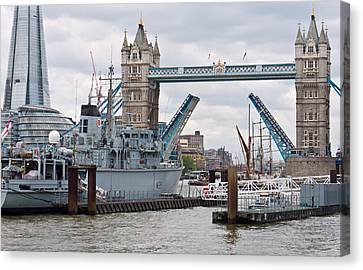 Tower Bridge Opens Canvas Print