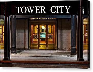 Tower City Cleveland Ohio Canvas Print by Frozen in Time Fine Art Photography