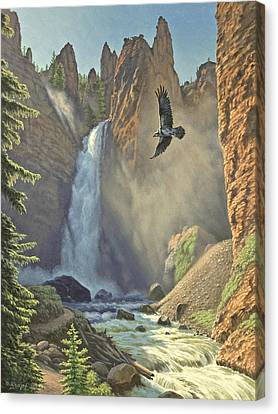 Tower Falls  Canvas Print by Paul Krapf