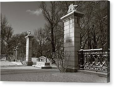Tower Grove East Gate Canvas Print by Scott Rackers