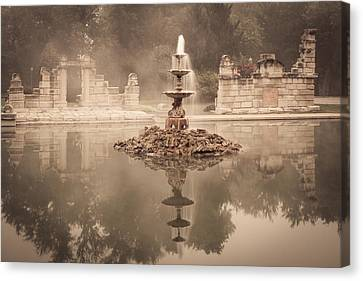 Tower Grove Fountain Canvas Print by Scott Rackers