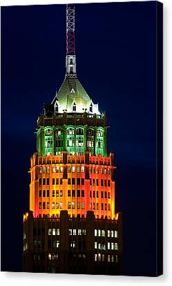 Tower Lit Up At Night, Tower Of The Canvas Print by Panoramic Images