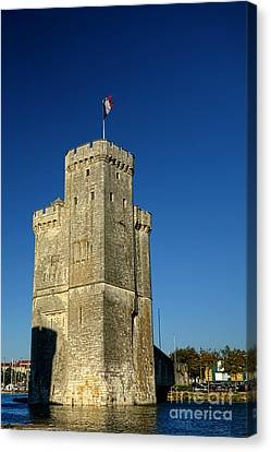 Medieval Entrance Canvas Print - Tower Of La Rochelle by Olivier Le Queinec