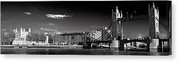 Tower Of London And Tower Bridge Canvas Print