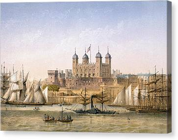 Tower Of London, 1862 Canvas Print by Achille-Louis Martinet