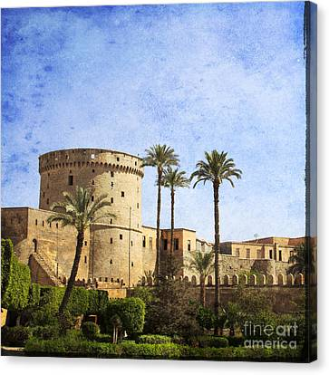 Tower Of Mohamed Ali Citadel In Cairo Canvas Print