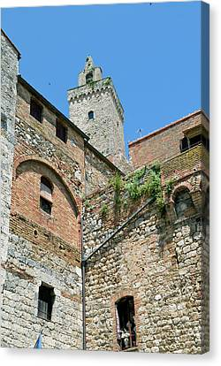 Tower Of San Gimignano, Unesco World Canvas Print by Nico Tondini