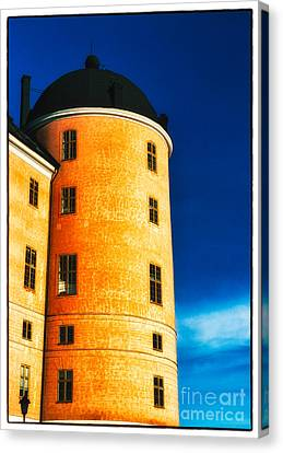 Tower Of Uppsala Castle - Sweden Canvas Print by David Hill