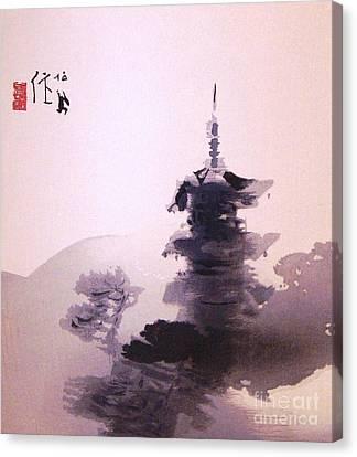 Tower Of Yasaka At Kyoto Canvas Print by Pg Reproductions