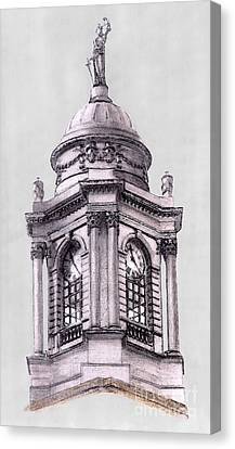 Tower Over City Hall New York City Canvas Print by Gerald Blaikie
