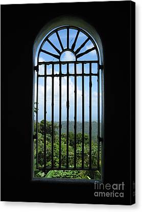Tower Window Canvas Print by Christine Stack