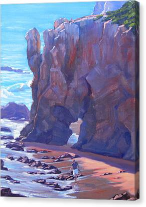 Towering El Matador Plein Air Painting Canvas Print by Elena Roche