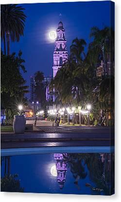 Towering Moon Canvas Print