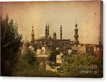 Towers Of Muslims Mosque In Cairo Canvas Print